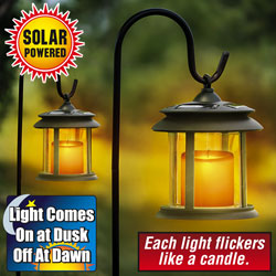 Flicker Candle Solar Lights - Pair&nbsp;&nbsp;Model#&nbsp;ESL-04-8