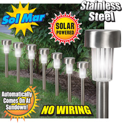 Solmar 8 Piece Solar Lights  Model# ESL-60S