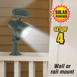 Wall/Rail Mount Solar Light (4Pack)  Model# ESL-39-3