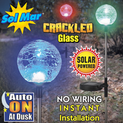 3 Pack Solar Garden Balls&nbsp;&nbsp;Model#&nbsp;S1311C-4