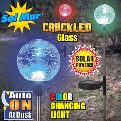 3 Pack Solar Glass Balls  Model# ESL-70