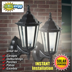 Georgian Solar Wall Lights - Set of 2  Model# 50403809
