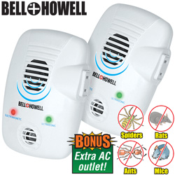 2 Pack Bell And Howell Electromagnetic Repellers  Model# 50153