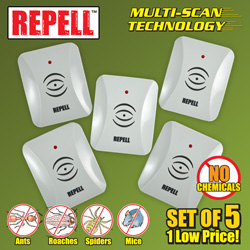 Ultrasonic Pest Repeller 5 Pack  Model# GH-324