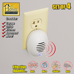 4 Pack Ultrasonic Pest Repellers  Model# G-03241