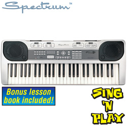 Spectrum 54-Note Electronic Keyboard&nbsp;&nbsp;Model#&nbsp;AIL-435