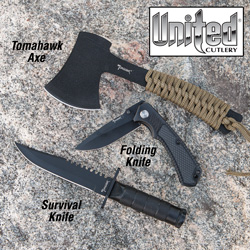 3 Piece Survival Knife Set  Model# XL1168FH KIT