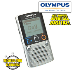 Olympus 1GB Digital Voice Recorder&nbsp;&nbsp;Model#&nbsp;DP-10