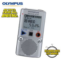 Olympus 2GB Voice Recorder  Model# DP-201-SILVER