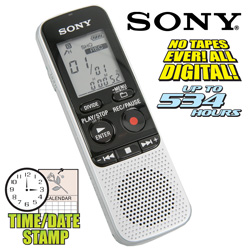 Sony 534 Hour Voice Recorder  Model# ICDBX112