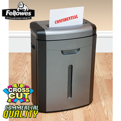 Fellowes 12 Sheet Cross-Cut Shredder  Model# DM1200CT