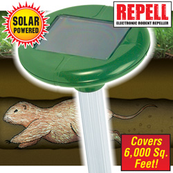 Solar Powered Mole Repeller&nbsp;&nbsp;Model#&nbsp;A316