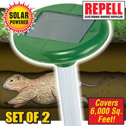 2 Pack Solar Mole Repellers  Model# A316(X2)
