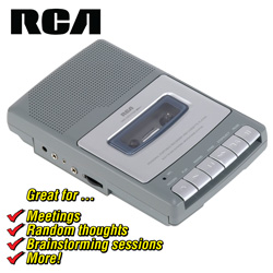 RCA Cassette Tape Recorder  Model# RP3503/4