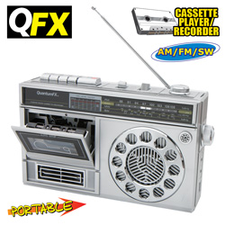 QFX AM/FM/SW Cassette Radio  Model# J-13