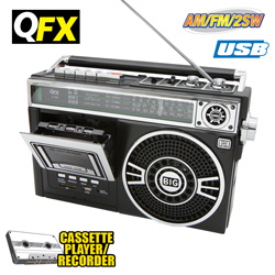 QFX Portable Radio - Black