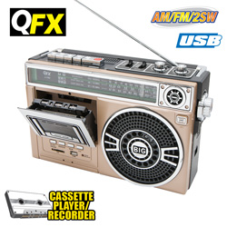 QFX Portable Radio - Gold