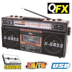 QFX Cassette Recorder Radio  Model# J-21U-WOOD