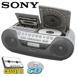 Sony AM/FM/CD/Casette Radio  Model# CFD-S05