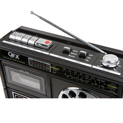 QFX AM/FM/SW Cassette Radio  Model# J-13 BLACK