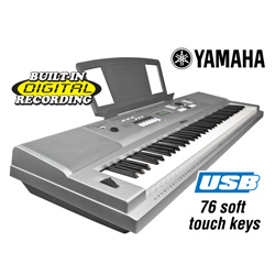 Yamaha 76-Key Keyboard&nbsp;&nbsp;Model#&nbsp;DGX230