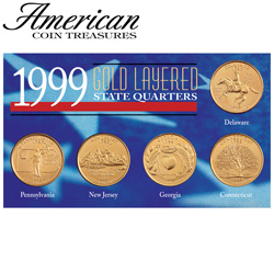 Gold State Quarters&nbsp;&nbsp;Model#&nbsp;6704