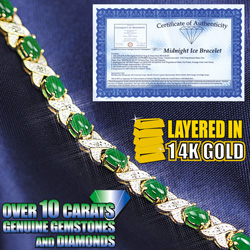 Diamond And Emerald Bracelet  Model# 403020