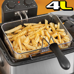 Dual Deep Fat Fryer  Model# L-DF401B-T