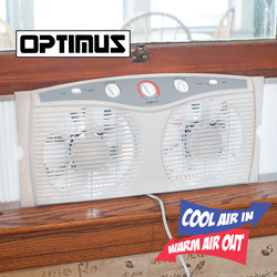 Twin Reversible Window Fan  Model# F-5285