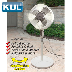 Kul Outdoor Misting Fan  Model# KU33318