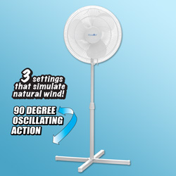 16 inch Oscillating Stand Fan  Model# PFE16LG
