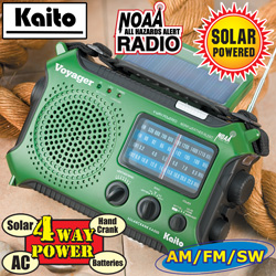 Voyager Emergency Radio&nbsp;&nbsp;Model#&nbsp;KA500-GREEN