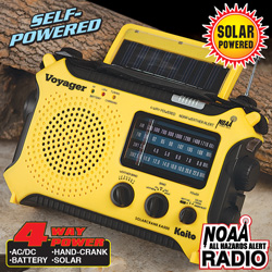 Voyager Yellow Emergency Radio&nbsp;&nbsp;Model#&nbsp;KA500-YELLOW