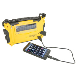 Voyager Yellow Emergency Radio  Model# KA500-YELLOW