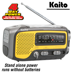 Kaito Voyager Trek Radio  Model# KA350-YELLOW