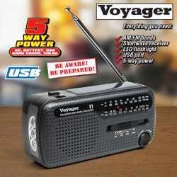 Voyager Emergency Radio  Model# KA505-GRAY