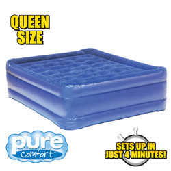 Queen Raised Air Bed with Coil Beam&nbsp;&nbsp;Model#&nbsp;8501AB