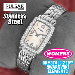 Womens Pulsar Crystal Watch  Model# PTC505