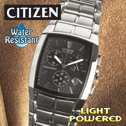 Citizen ECO Drive Chronograph Watch  Model# AT2000-54E