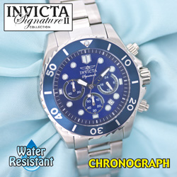 Invicta Blue Dial Chronograph Watch  Model# 7367