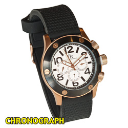 Giulio Romano Rose Gold Chronograph Watch  Model# GR-3000-09-001