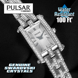 Pulsar Womens Crystal Watch  Model# PEGE23