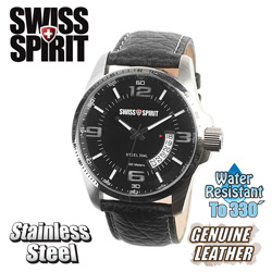 Swiss Spirit Watch&nbsp;&nbsp;Model#&nbsp;22100-BLACK