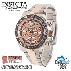 Invicta Chronograph Watch - Rosegold Dial  Model# 7409