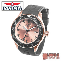 Invicta Rose Gold Sport Watch&nbsp;&nbsp;Model#&nbsp;11257