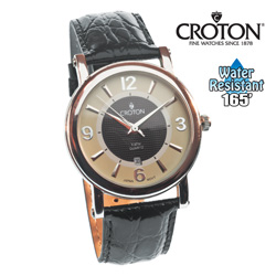 Croton Gold/Black Dial Dress Watch  Model# CN207433SSBK