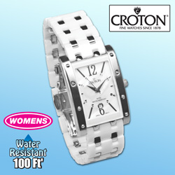 Croton Ceramic Womens Watch&nbsp;&nbsp;Model#&nbsp;CN207417WHMP