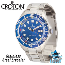 Croton Divers Sports Watch&nbsp;&nbsp;Model#&nbsp;CA301245BUBL