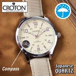 Croton Field Compass Watch  Model# CX328029TNIV