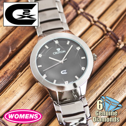 Womens 6 Diamond Watch - Silver  Model# CX228018SLBD